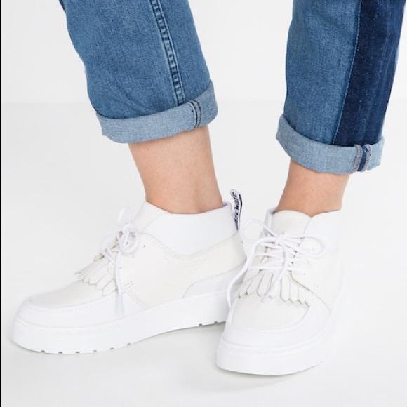 Online-Shop verrückter Preis mäßiger Preis NEW Dr. Martens Jemima white ankle boots NWT